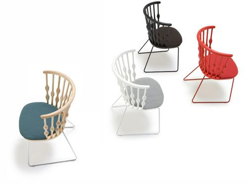NUB Sled Base Chair By Andreu World Design Patricia Urquiola