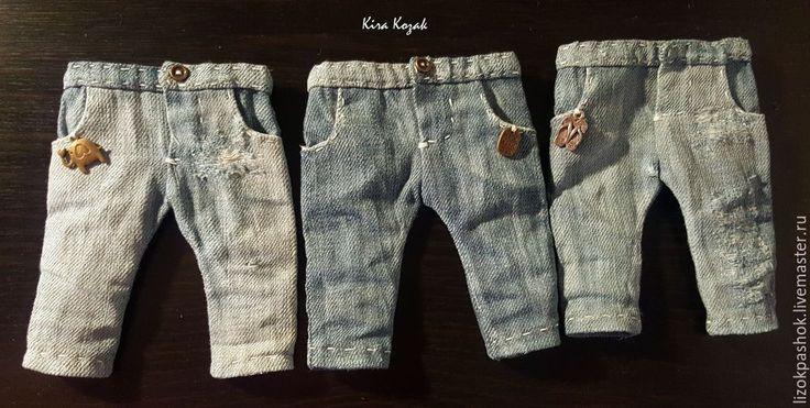 Шьем джинсы для куклы - Ярмарка Мастеров - ручная работа, handmade