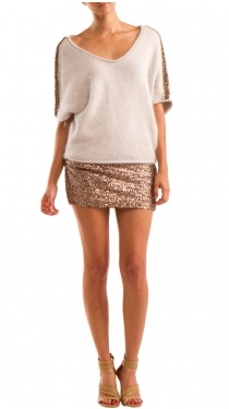 sweater with sparkle skirt