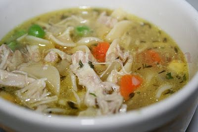 Homey and healing chicken noodle soup, made with a homemade stock and fresh veggies.