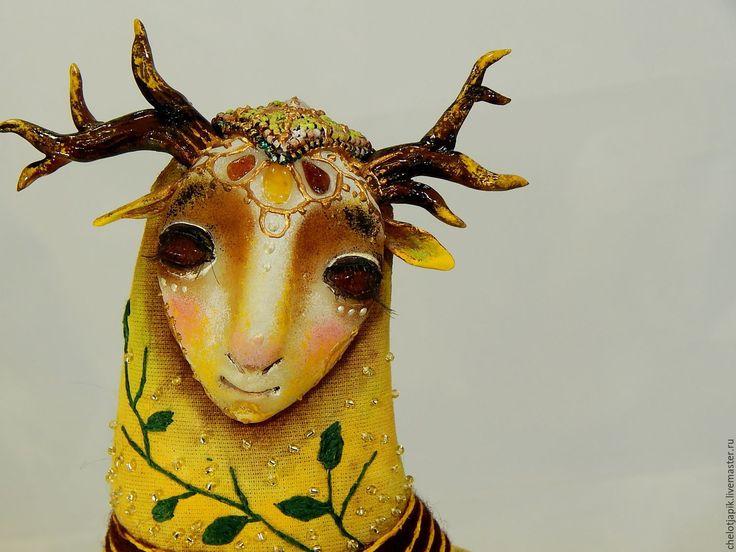 Купить Лесной дух Эуне. - оранжевый, волшебные существа, лесной дух, олень, сказочные существа