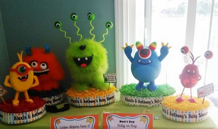 Lil Monsters Baby Shower Centerpieces