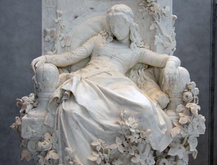 "nolollygagging: "" Dörnroschen (Sleeping Beauty) Sculpture by Louis Sußmann-Hellborn in the lounge of the Alte Nationalgalerie, Berlin. """