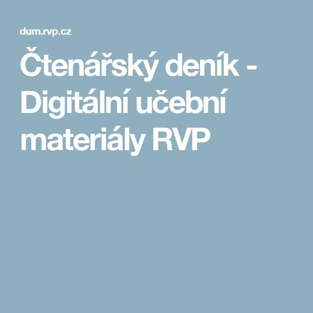 Čtenářský deník - Digitální učební materiály RVP