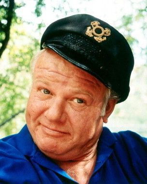Photo of Alan Hale Jr as The Skipper for fans of Gilligan's Island.