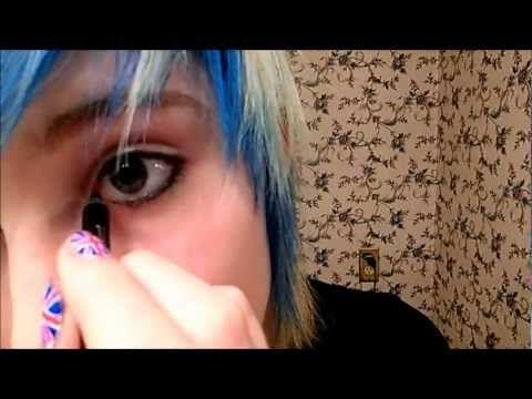 SUPER EASY! ~Simple 'emo' make-up ( Medium heavy) - YouTube