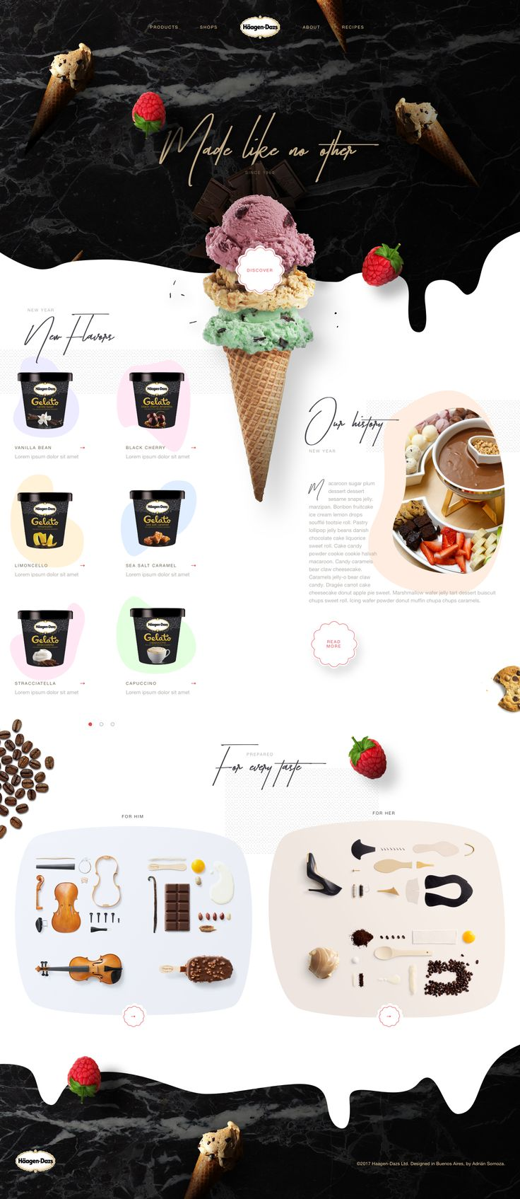 Häagen-Dazs Website Design