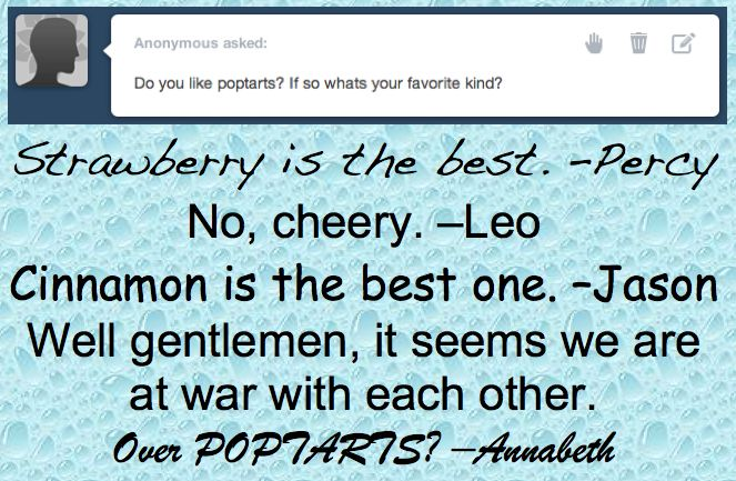 Of course over poptarts! You only go to war over important things.