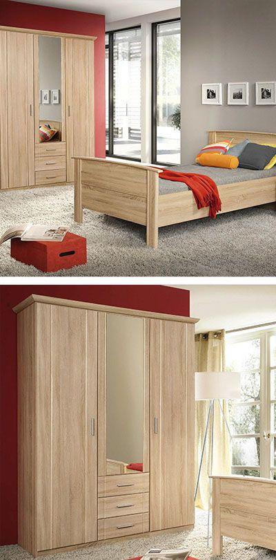 Kleiderschrank Eichefarben Schlafzimmerschrank Kleiderschrank Holz