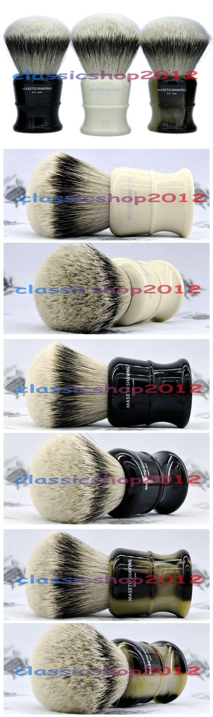 Shaving Brushes and Mugs: Ms - Fan Shape 100% Silvertip Badger Shaving Brush And Classic Handle 30Mm Knot -> BUY IT NOW ONLY: $56.99 on eBay!