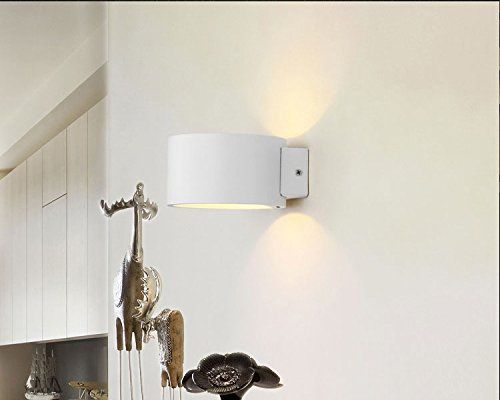 From 15.00:Solfart Lighting Gw-9201r Round White Shade 3000k Warm Light Aluminum Shade Indoor Bedside Wall Scones Living Room Entrance Door Small Square Led Modern Spot Light Wall Lamp Wall Light Fixture 1pc