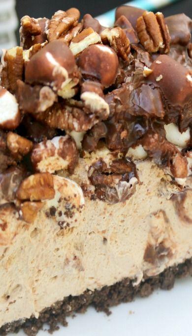 Mississippi Mud Pie No Bake Cheesecake