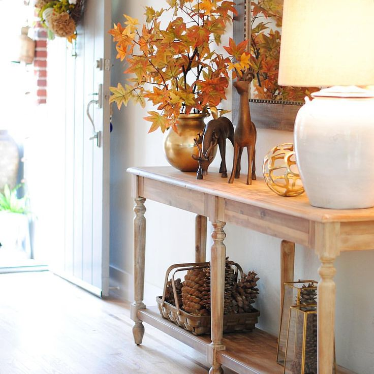 Transitional Foyer Hallway: Transitional Entryway Decor (from Autumn To Christmas