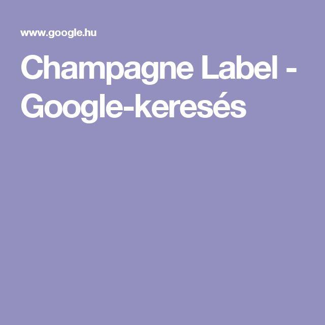 Champagne Label - Google-keresés