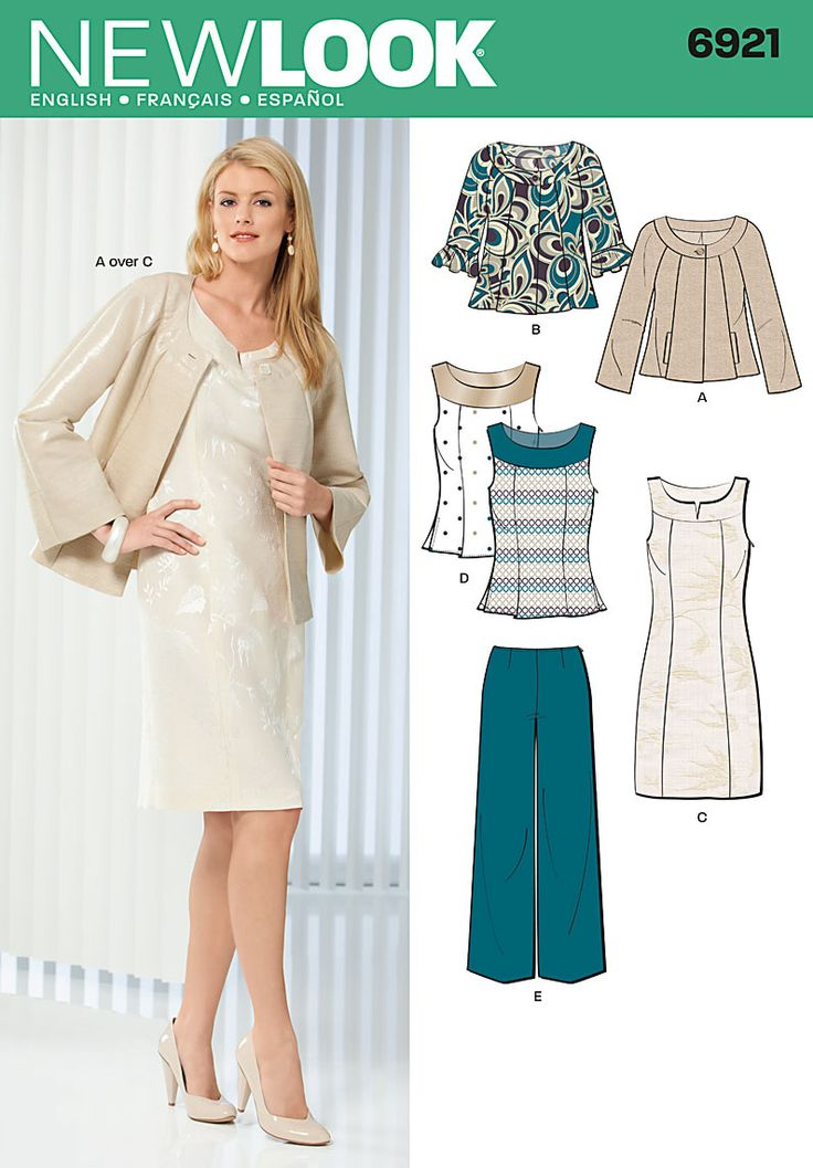 New Look 6921 from New Look patterns is a sewing pattern ...
