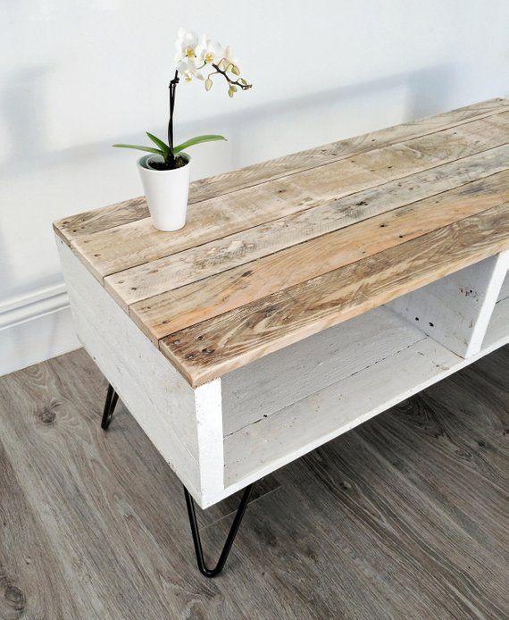 Salon Tafel Van Pallethout.Retro Reclaimed Coffee Table Turvas 100x42cm Rustic Pallet
