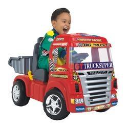 Mini Veículo Elétrico Caminhão Big Truck Vermelho - Magic Toys