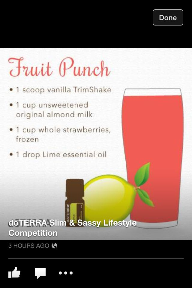 Fruit Punch Shake Slim and sassy http://mydoterra.com/sarahelmerburnsed