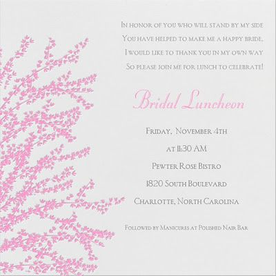 bridal luncheon manicures invite bridal party pinterest