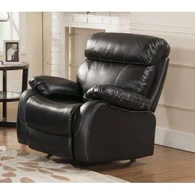 Red Barrel Studio Market Garden Recliner Upholstery: Black