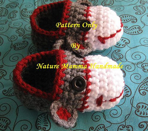 Free Crochet Pattern Sock Monkey Slippers : Gallery For > Classic Sock Monkey Pattern