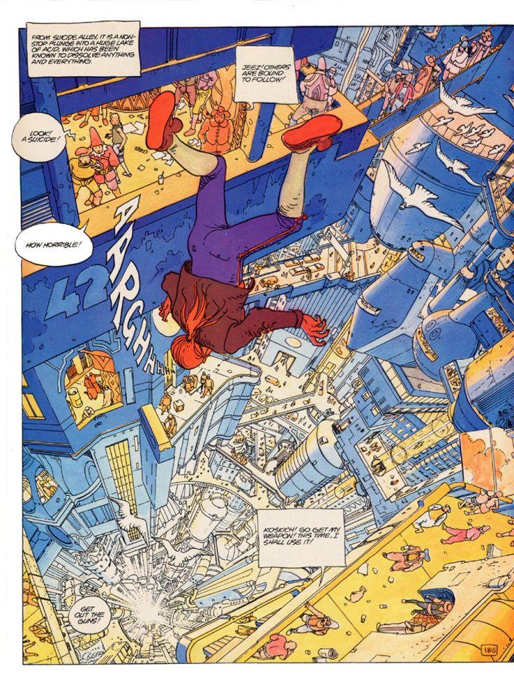 Moebius - Incal A famosa cena de abertura de Incal de Alejandro Jodorowsky e Moebius.