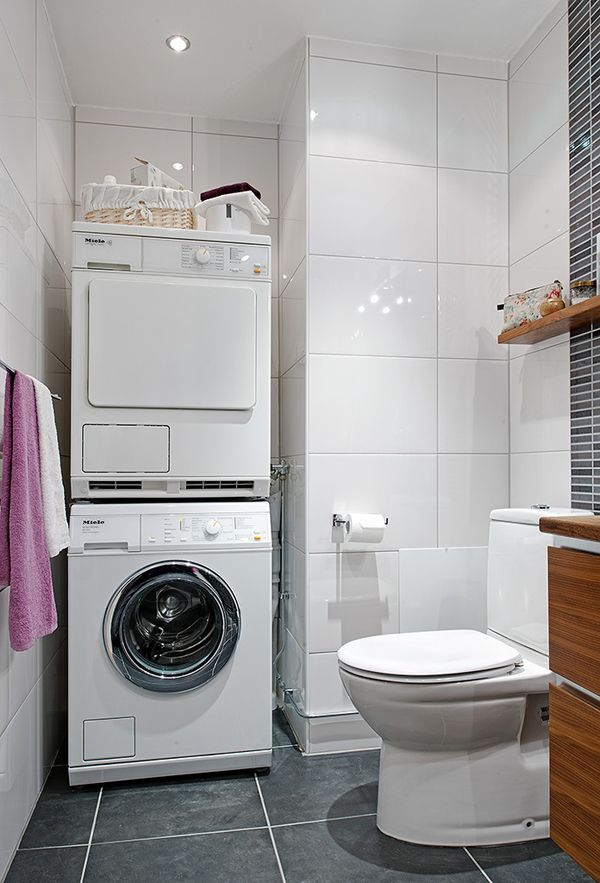20 Small Laundry With Bathroom Combinations House Design And Decor Laundry Room Pinterest