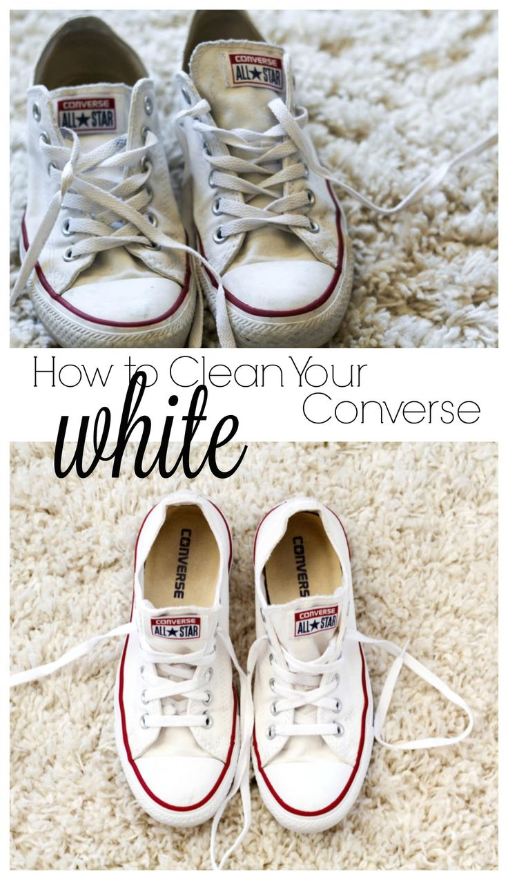 How to Clean Your White Converse: Guide to cleaning your white converse back to their former glory with the world's easiest and laziest steps.