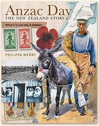 """Anzac Day : the New Zealand story : what it is and why it matters"", by Philippa Werry - Aimed at 8 to 12 year olds but useful for the whole family, this fascinating new book exposes the rich history behind Anzac Day in an engaging and informative style, seeking to answer the many questions children often ask their parents and teachers around the 25th of April every year. It covers all aspects of Anzac Day, from the Gallipoli Campaign and the Great War, right through to the format of the…"