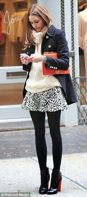 #whitepullover #shortskirt #winterfashion