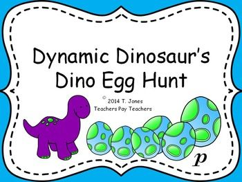 """Need an engaging way to practice and review dynamics with your students?  The adorable """"Dynamic Dinosaur"""" will help your students review dynamic definitions as they go on a hunt to find his friends eggs!   (ff, f, mf, mp, p, pp are included in this set)Created by the Totally Tuned-in Teacher, Tina JonesIncluded in compressed zip file:- Interactive PDF Game - Dynamic Dinosaur's Egg Hunt- Directions for PDF game/Suggestions for use- Printables of Dynamics color and black and white versions…"""