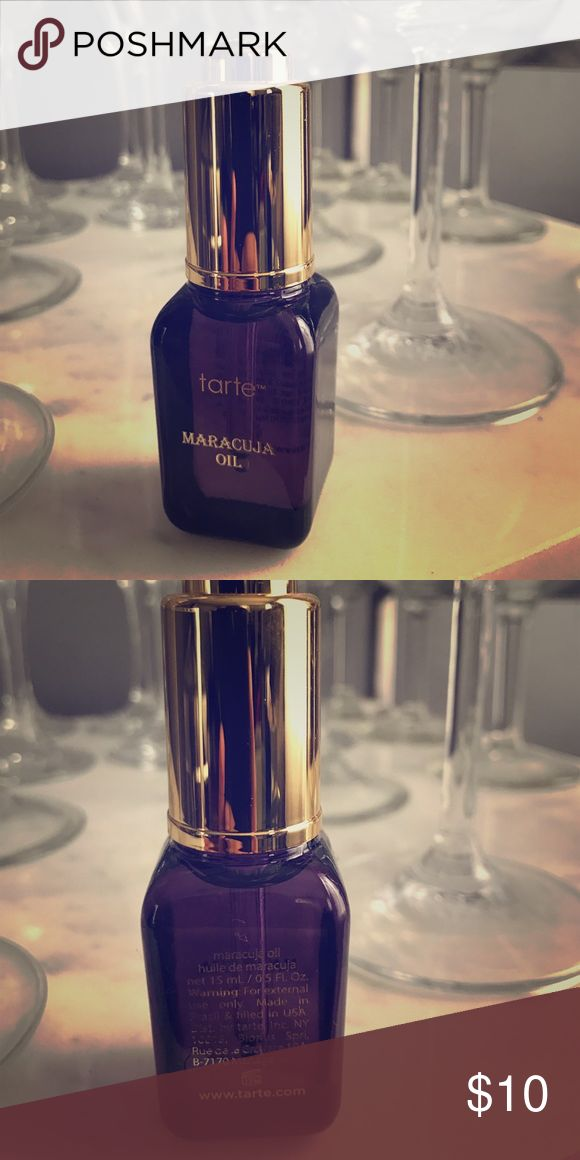 Tarte Maracuja Oil Maracuja oil known for being not only AMAZING for your skin but also great for adding dewiness to your makeup! Also can replace a primer. Never used. tarte Makeup Luminizer