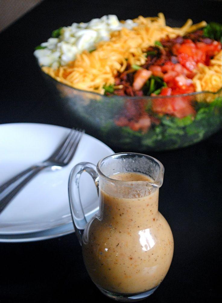 Amazing Homemade Roasted Garlic Vinaigrette Salad Dressing