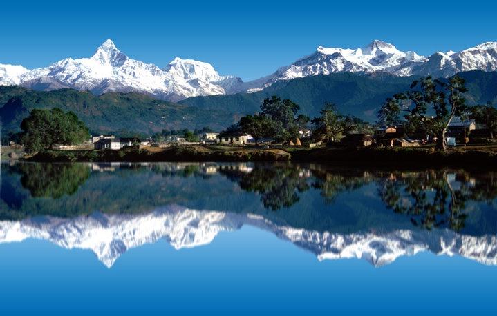 Fewa lake at Pokhara, Nepal