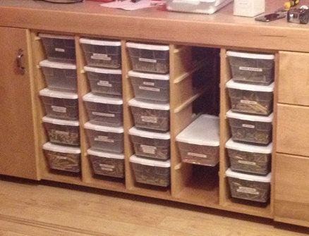 Nice way to store sorted brass                                                                                                                                                                                 More