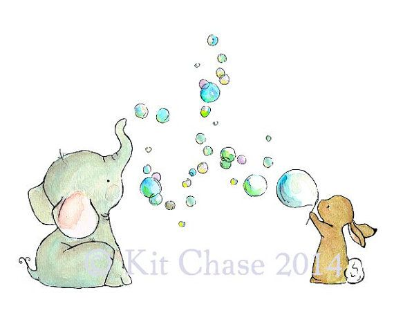 Etsy の Nursery Art Bubble Party Art Print by trafalgarssquare