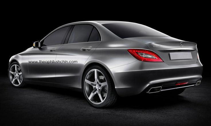 Mercedes C-class 2014 rear view