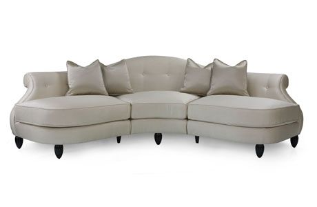 curved sofas and loveseats | Barrymore Furniture - Mademoiselle Curved Sofa Christopher Guy