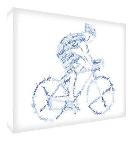 Feel Good Art Gallery Wrapped Solid Fronted Box Canvas (30 x 20 x 4 cm, Blue Tones)