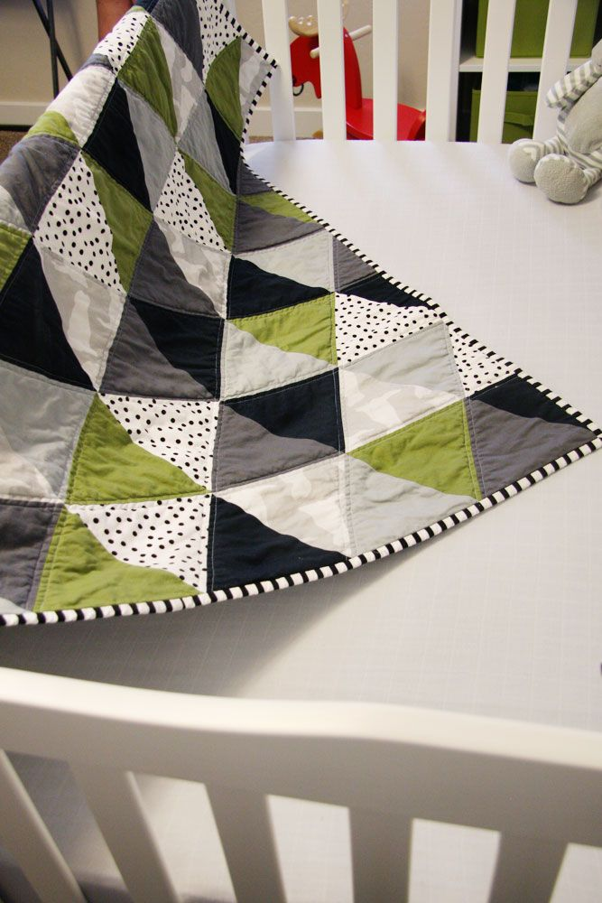 Sew: Equilateral Triangle Baby-Quilt. (follow links to See Katie Sew).