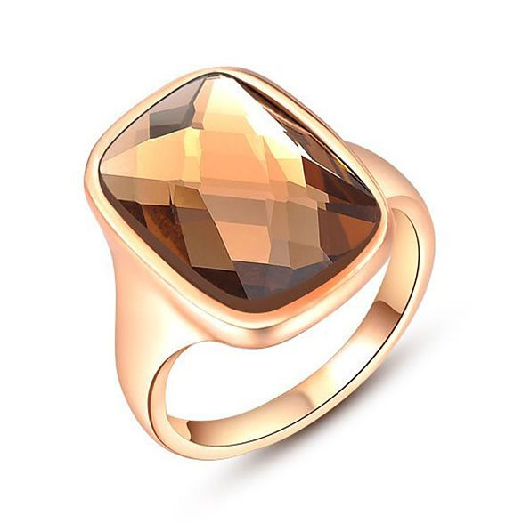 18k Rose Gold Plated Made With Swarovski Crystal Women's Fashion Ring R124