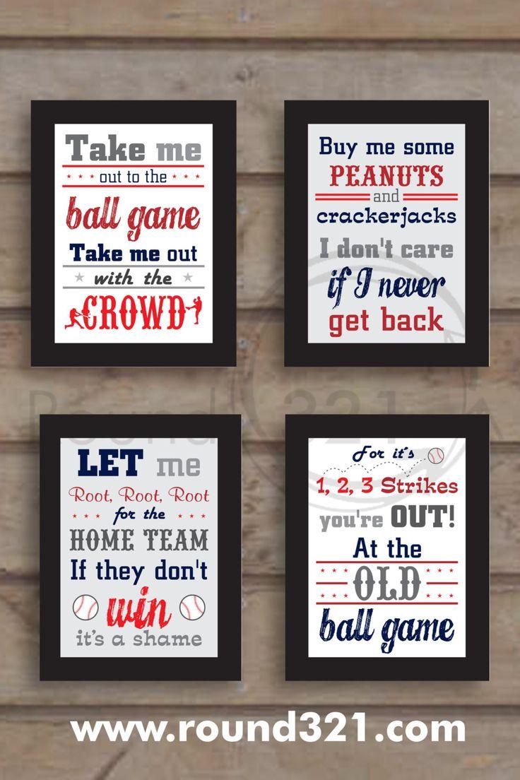 4 8.5 X 11 Take Me Out To The Ballgame Prints Custom by Prints321, $78.00