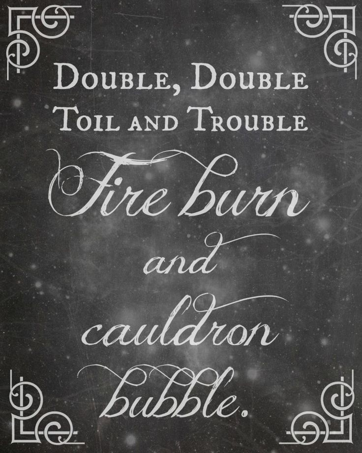 Double double toil and trouble - free printable plus two others and chevron ones too!
