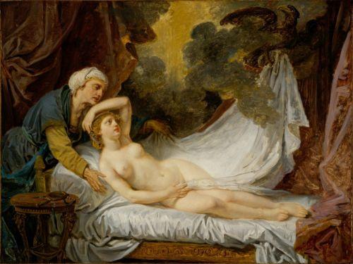 Cave to Canvas, Jean-Baptiste Greuze, Aegina Visited by Jupiter,...