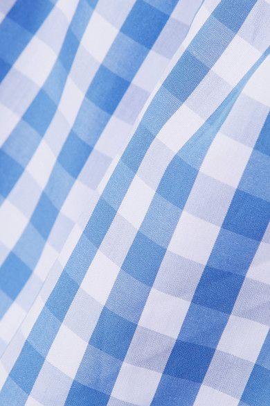 Three J NYC - Sadie Gingham Cotton-poplin Pajama Set - Blue