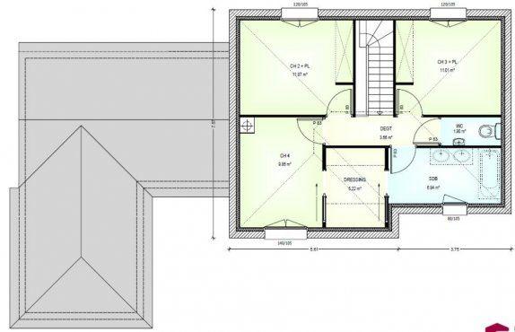 17 meilleures id es propos de plan maison 120m2 sur for Achat construction neuve