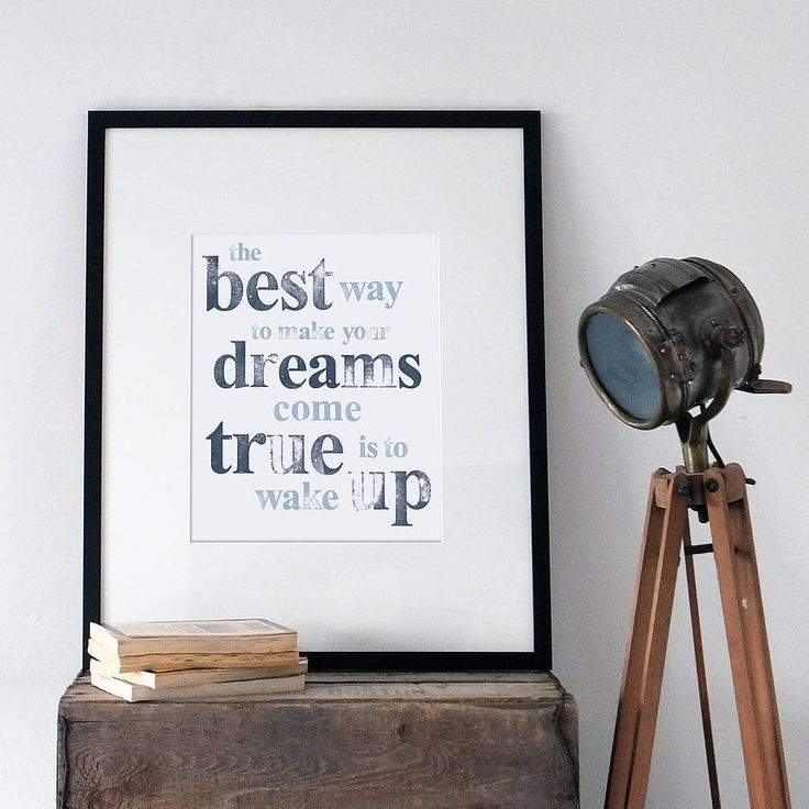 Hand Stamped 'Dreams' A3 Paper Prints by Coulson Macleod £21
