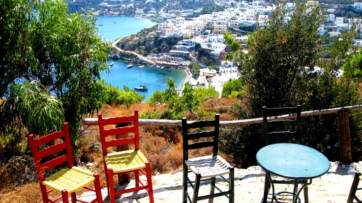Empty chairs again... where are you???? -  Leros island  (Greece)