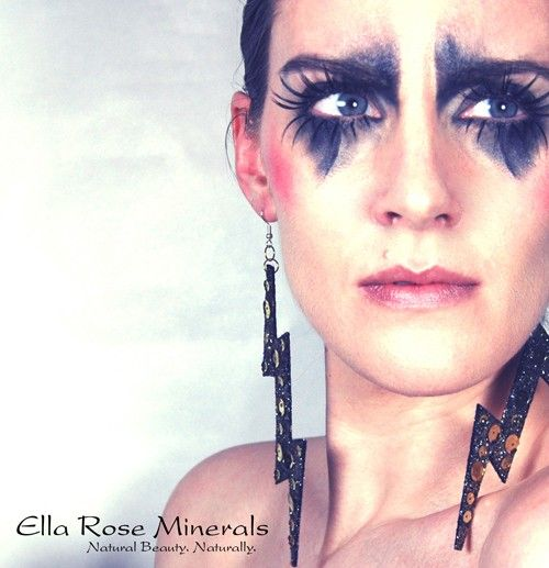 Punk Rock look OR use for darker smoky eye kit by EllaRoseMinerals, $23.94