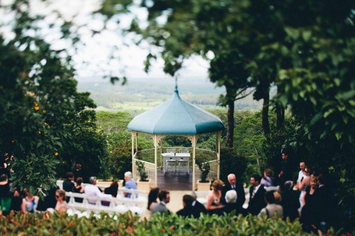 Garden Wedding Ceremony - Weddings At Tiffanys - Maleny Sunshine Coast Hinterland